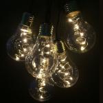 LED Party-Lichterkette 10er Birne 50 Dioden 2, 7m warmweiß FHS 29357