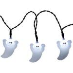 LED Lichterkette 10er Geister weiß Halloween Batteriebetrieb 726-75