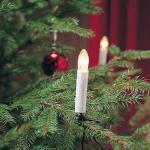 Weihnachtsbaumbeleuchtung 25er klare Birnen weiss innen Konstsmide 2038-000 xmas