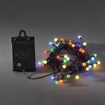 LED Globe Lichterkette 40er Batterie bunt Timer 6 / 9 Std. aussen 3740-500 xmas