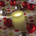 LED Echtwachskerze elfenbein Lichtsensor Konstsmide 1096-200
