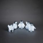 LED Acryl 5er Babypinguine 11x10cm kaltweiß außen Konstsmide 6266-203 xmas