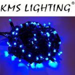 KMS LED Lichterkette blau-schwarz 100er 10m verlängerbar