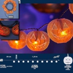 LED Halloween Lichterkette 10er Kürbis Batteriebetrieb innen 35096