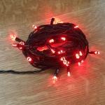 LED Lichterkette 40er 5m rot / schwarz innen 468-45