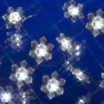 LED-Drahtgirlande 20er Schneeflocke Batteriebetrieb 005-62