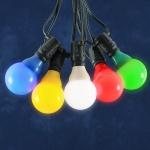 LED Biergartenkette Party-Lichterkette 10er bunt Konstsmide 4428-500