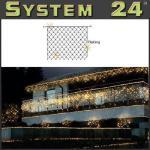 System 24 LED Flash-Lichternetz 140er 2x2m extra warmweiß 491-15 außen xmas
