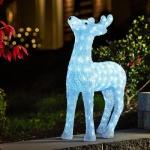 LED Acryl Rentier 60x36cm 176 Dioden 10, 56W außen Konstsmide 6121-203 xmas