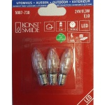 LED Glühbirne E10 3er Packung klares Glas 24V 0, 3W 5087-730