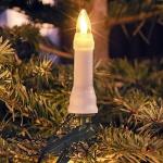 LED Weihnachtsbaumbeleuchtung 16er warmweiß außen ein Strang 12m 1013-020 xmas