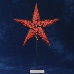 Leuchter Papierstern Papierleuchte rot/schwarz Konstsmide 2953-572