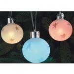 6 Beleuchtete LED Christbaumkugeln Fernbedienung Farbwechsel 14070