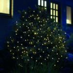 LED Lichternetz 3x3m 200er warmweiß-grün außen FHS 02886