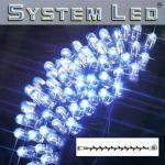 System LED Lichterkette Extra 5m 50er blau Kabel schwarz 465-09