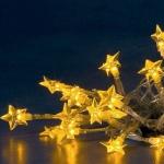 LED Lichterkette 20er Sterne gelb Batteriebetrieb Konstsmide 1263-003