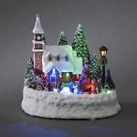 LED Szenerie Haus mit Kindern animiert innen Konstsmide 3496-000