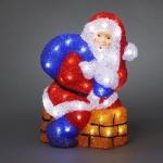 LED Acryl Weihnachtsmann Schornstein 48er 38x27cm außen Konstsmide 6172-203 xmas