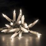 Mini-Lichterkette 10er Birnen klar-transparent ein Strang 1111-003