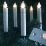 LED Weihnachtsbaum Kerzen Slim Line Kabellos 10er warmweiss 13868