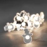 LED Deko Lichterkette 10er Schneemann warmweisß innen 3187-103