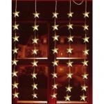 LED Lichtervorhang 40er Sterne warmweiß 1x1, 2m innen / außen FHS 06044