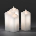 LED Echtwachskerzen 4er Set weiß Lichtsensor Konstsmide 1973-100