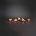 LED Acryl 5er Rotkehlchen 12x15cm 40er kaltweiß außen Konstsmide 6269-203 xmas