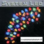 System LED Lichterkette Extra 5m 50'er bunt Kabel schwarz 465-01