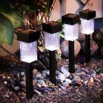 LED Solarleuchte Solarlampe Pathlight 4er Set kaltweiß außen Best Season 477-36