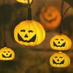 LED Halloween Lichterkette Kürbis / Pumpkin 8er 476-11
