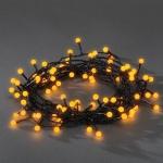 LED Globe-Lichterkette 80er gelb aussen Konstsmide 3691-007