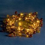 LED Dekorkranz gelb 20er Lichterkette innen Batterie Konstsmide 1266-000 xmas