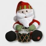 Sitzender Weihnachtsmann Trommel Try me 28x24cm Best Season: 002-45