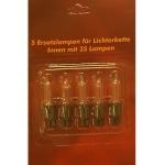 Ersatzlampen 5er 7V/0, 84W für 35er Mini-Lichterkette innen XI11965 xmas