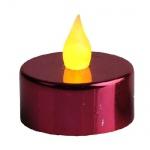 LED-Teelicht 2 Stück Teelichter rot metallic Best Season 066-03