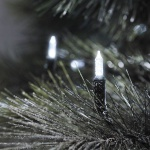 LED Mini-Lichterkette 200er kaltweiß / grün aussen Konstsmide 6070-200