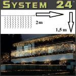 System 24 LED Lichtervorhang 196er extra 2x1, 5m warmweiß 491-92 außen xmas