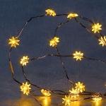 LED Lichterkette Stern gelb 20er 2 Funktionen Konstsmide 1269-000