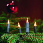 Mini-Lichterkette 50er klare Birnen Kabel grün Konstsmide 2116-000
