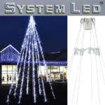 System LED Flagpole Start-Set 26-teilig Fahnenmast Beleuchtung 466-20