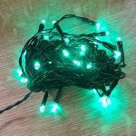 LED Lichterkette 40er 5m grün / schwarz innen 468-43