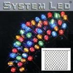 System LED Lichternetz 3x3m 192er bunt Kabel schwarz 465-11-33