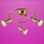 Globo LED Strahler Anne 3-flammig 3x250lm 3000K GU10 kupfer 54383-3
