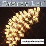 System LED Lichterkette Extra 5m 50er warmweiß Kabel schwarz außen 465-06 xmas