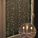 LED Lichtervorhang 240er silberdraht 105x150cm innen/außen HI 76632