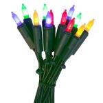 LED Mini-Lichterkette 35er bunt / grün P-LED 422-13