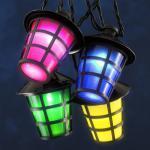 LED Party-Lichterkette Laterne Lampion 4 Farbig Konstsmide 4162-500
