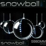 Snowball Weihnachtskugeln 5 Stück mit jeweils 52 LEDs JSFB80-5