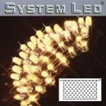 System LED Lichternetz 2x1m 100er warmweiss Kabel schwarz 465-16